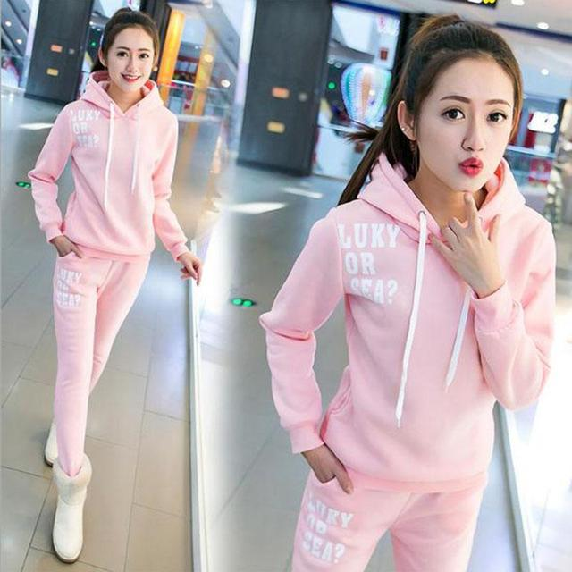 2016 new autumn winter women 2 piece clothing set casual fashion Hoodies suits  ladies sexy tracksuit pants hoodie suit