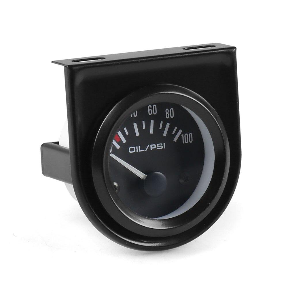 """Датчик давления масла """" 52 мм Универсальный 0-100 фунтов/кв. дюйм автоматический датчик давления масла с датчиком белый водить автомобиль метр"""