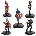 The Avengers Super Hero Action Figurine Hawkeye Ultron Hulk Captain America Batman Ironman Thor Hammer Civil War Statue Toy Set