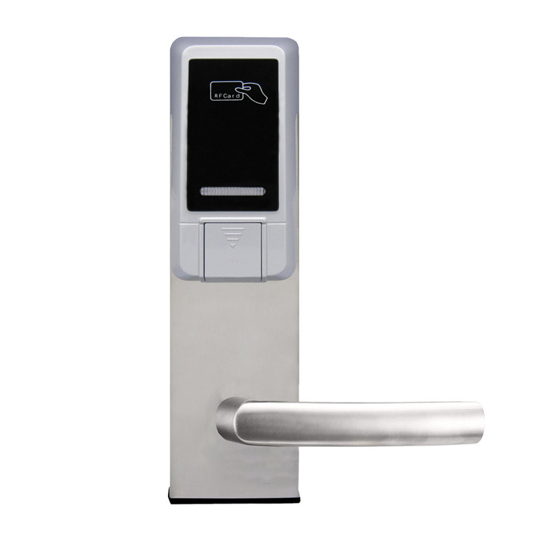 Electronic RFID Card Door Lock with Key Electric Lock For Home Hotel Apartment Office Smart Entry lk18ES5MS access control lock metal mute electric lock rfid security door lock em lock with rfid key card reader for apartment hot sale