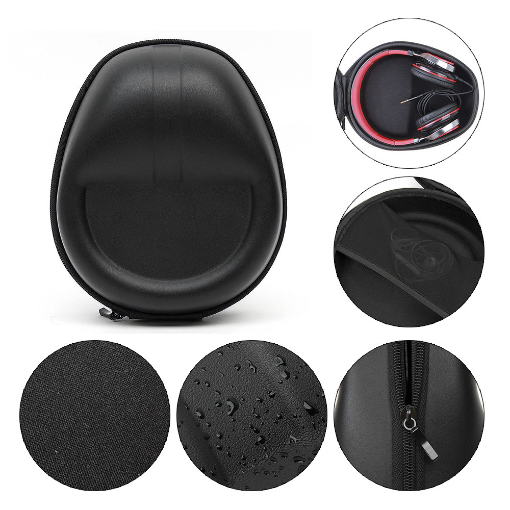 230*190*100mm Headphone Case Portable Headphones Bag Box For Full Size Earphone Hold Case Headset Hardshell Accessories ak kz case bag in ear earphone box headphones portable storage case bag headphone accessories headset storage bag