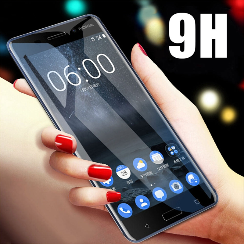 9D Protective Glass For Nokia 4.2 3.2 3 6 7 8 3.1 5.1 6.1 7.1 8.1 Plus Screen Protector for Nokia 8.1 7 Plus 5.1 6.1 Film Cover