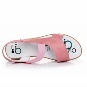 Image 5 - GKTINOO 2020 sandales en cuir véritable pour femmes, été, sandales à talons plats pour femmes, Plus la taille 33 43