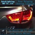 Venda quente Para Hyundai IX35 conduziu luzes da cauda 2010-2013 Tucson IX35 cauda luzes car styling lâmpada traseira levou drl + sinal + freio + reverso