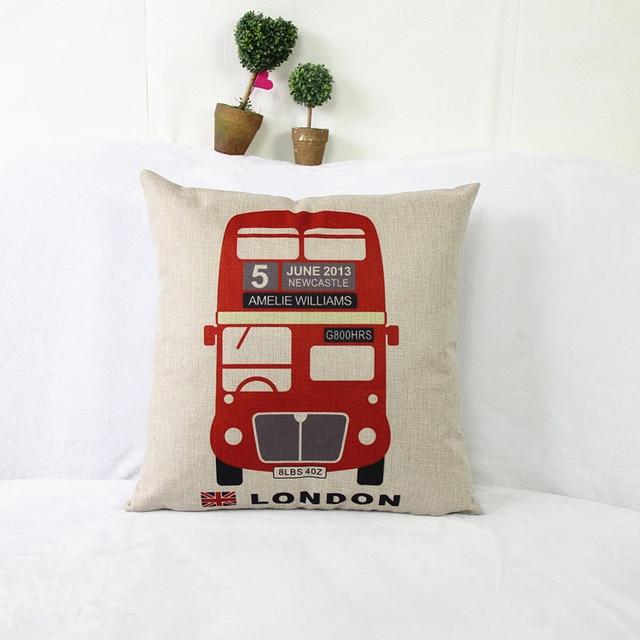 Inglaterra estilo almohada coche cojín del sofá muebles de tela ...