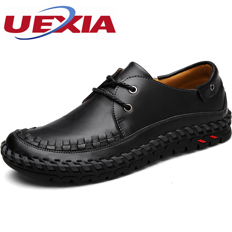 Causal Shoes Men Loafers Leather Zapatos Moccasins Breathable Driving Shoes High Quality Flats Rubber bottom Handmade Moccasins