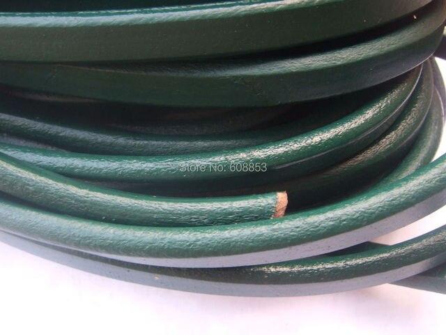 1 Двор Зеленый 10x6 мм Настоящее/Подлинная Солодки Кожаный Шнур Ювелирных Изделий