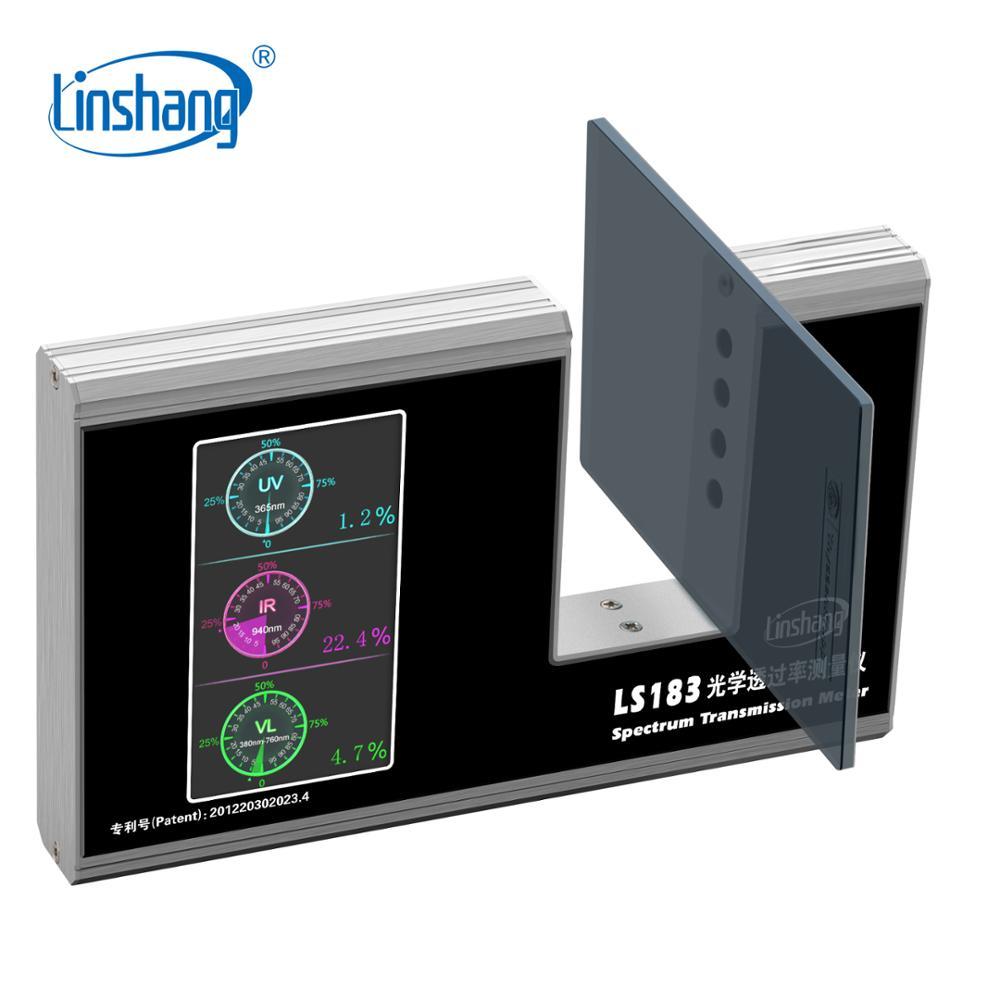 Linshang LS183 Spectrum Transmission Meter UV IR Transmission Meter test film glass window tint with 940
