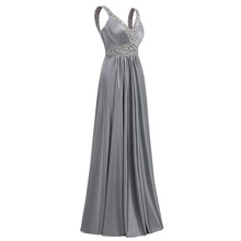 Women Sleeveless Sexy A-Line Elegant Wedding Party Formal Gowns Long Evening Dress 2018