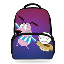 KOLLEGG School Bags For Girls and Boys Design School Backpacks Cartoon Courage The Cowardly Dog Printing Backpack Children Bags