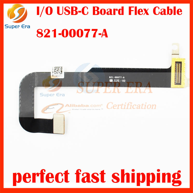 Genuine New I/O USB-C Power Jack DC-IN Board w Flex Cable for Apple MacBook Retina 12 A1534 P/N 821-00482-A 821-00077-02 2016 original new power port for macbook pro retina 13 15 a1706 a1707 a1708 power jack board 2016 2017 820 00484 02 replacement