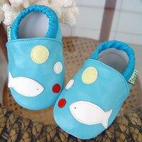 Из натуральной кожи детские мокасины круглый носок Туфли без каблуков дышащие мягкие для малышей для маленьких девочек Обувь Шлёпанцы для ...
