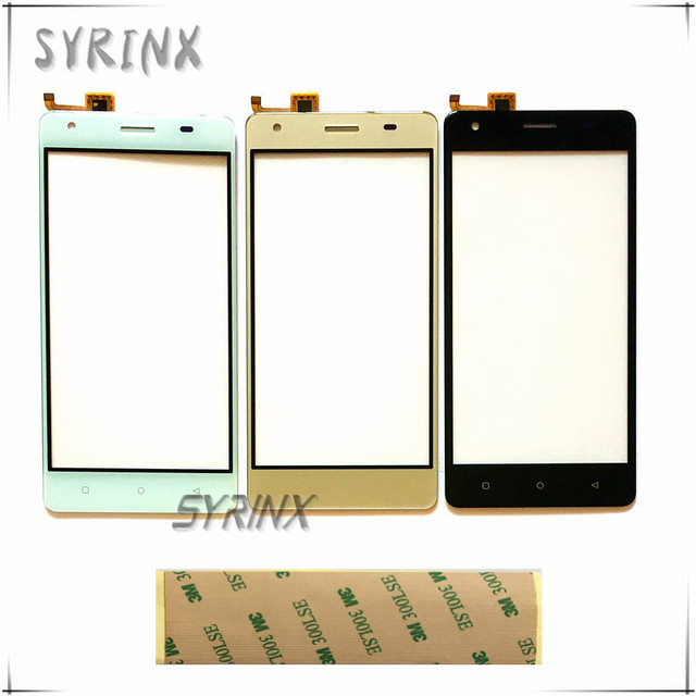 SYRINX With Tape Mobile phone front glass lens touchsceen For Oukitel C5 Pro sensor touch screen capactive digitizer panel