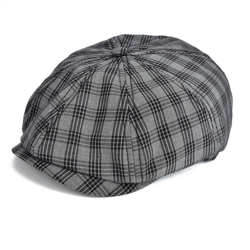 Comprar ahora. USPOP 2019 nuevos de las mujeres de la moda vendedor gorras  sombrero casual mujer patchwork PU ala gorra Octagonal ... f414b5435402