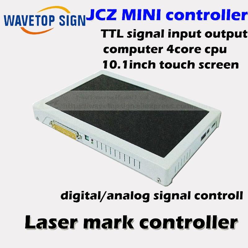 все цены на jcz embeded control board  mini fiber laser mark machine control system+computer+touch screen+data cable онлайн