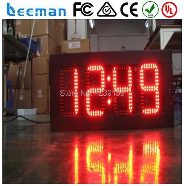 """10 """"дюймовый 88: C/F Красный светодиод знак времени температуры на улице, время сид дисплей температуры водить большие цифровые часы настенные отображения времени"""