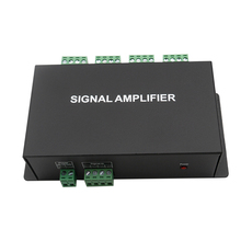 цена на HC800 8 channels DC12V 24V SPI TTL signal synchronizer LED amplifier 8CH 8 ports output For dream color pixel led strip light