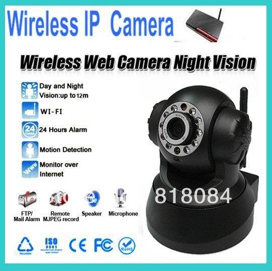 Wireless IP Camera Day & Night Pan/Tilt Security System CCTV WIFI IR Network Camera WebcamWireless IP Camera Day & Night Pan/Tilt Security System CCTV WIFI IR Network Camera Webcam