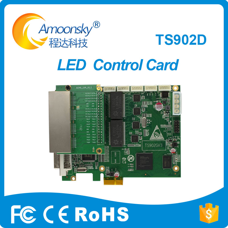 original factory Linsn TS902 TS902D full color LED video display sending card 4 network port support