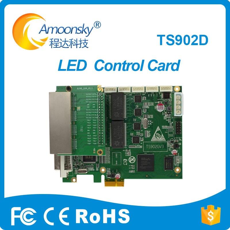 D'origine usine Linsn TS902 TS902D pleine couleur LED vidéo affichage envoi carte 4 réseau soutien 4 k entrée