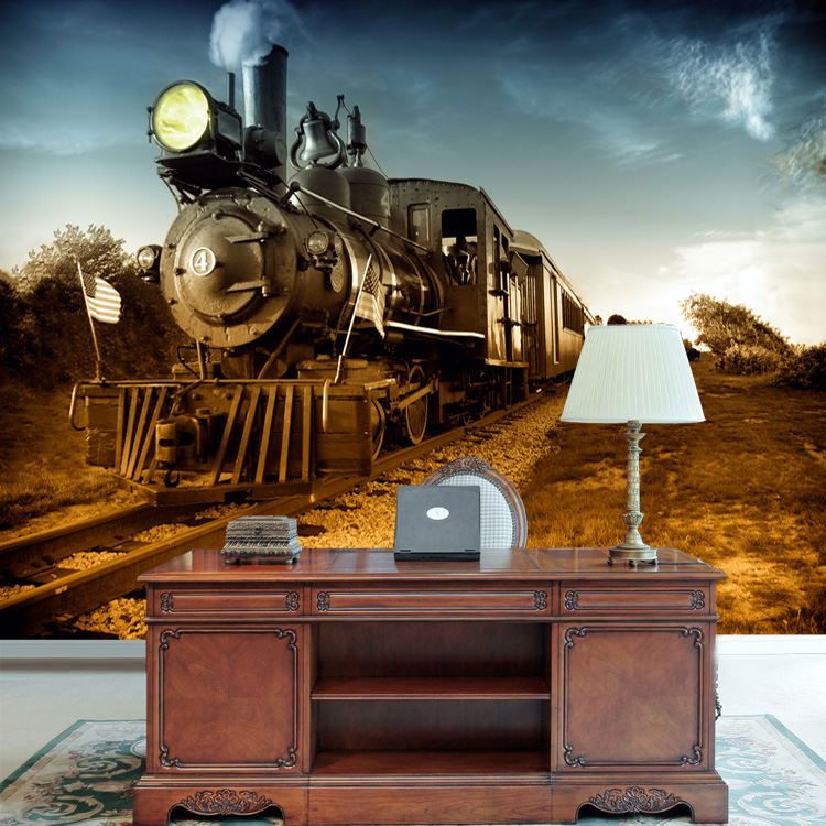 Beautiful Aliexpress.com : Buy Mural Personalized 3D Wallpaper Tv Background Wall  Vintage Large Mural Steam Train From Reliable Tv Background Suppliers On  Creation ... Part 4
