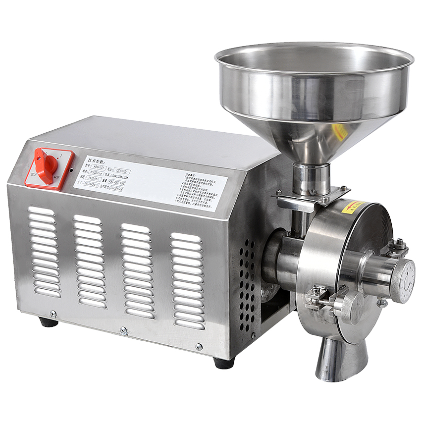 High efficiency commercial Grain Grinder stainless steelgrinding machine for spices corn soybean 20 40KG h 1420r