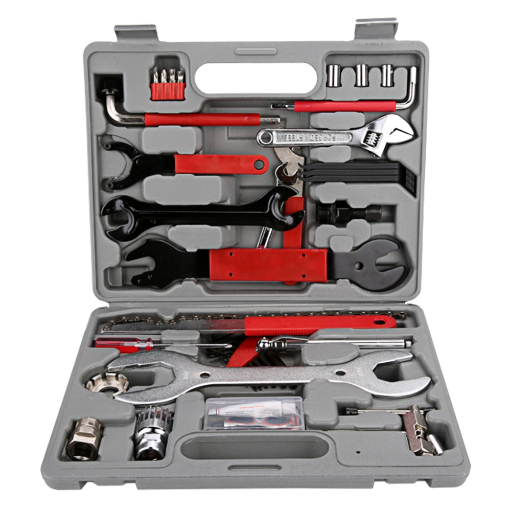 37pcs /set High Quality Bicycle Repair Tool Set Multi Maintenance Tools Mountain Bike Repair Tool Kit Cycling Screwdriver Tool bike combination tool set professional mountain bike maintenance hand bike bicycle bicycle repair tools full