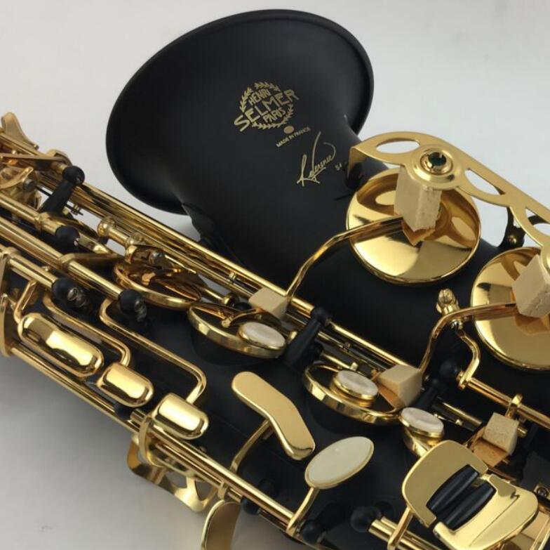 Selmer SAS-54 Saxophone Black Alto Eb Sax mouthpiece Black Lacquer Gold Key E- flat Saxfone Alto Sax with case,reeds,gloves. vandoren sm602b a45 jumbo java mouthpiece alto saxophone alto sax mib eb mouthpiece