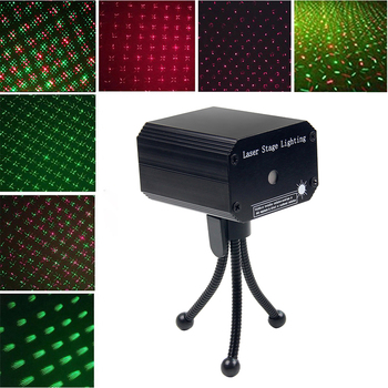 LED Disco DJ Party Laser Projector Light Auto Flash Sound Activate Red & Green Stage Lighting Effect Xmas Party Club Laser Light disco beam laser light professional remote dmx512 red 200mw stage lighting scanner dj party show xmas light led effect projector
