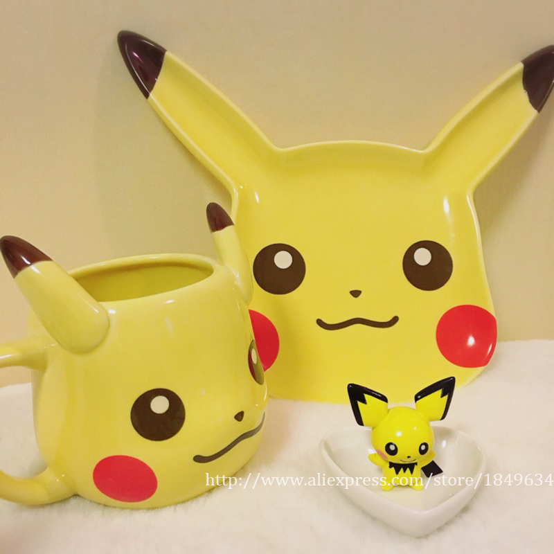 Creative Mugs Pikachu Travel Coffee Mug Ceramic Tea Water Bottle Cup Adult Kids Gifts Espresso Cups