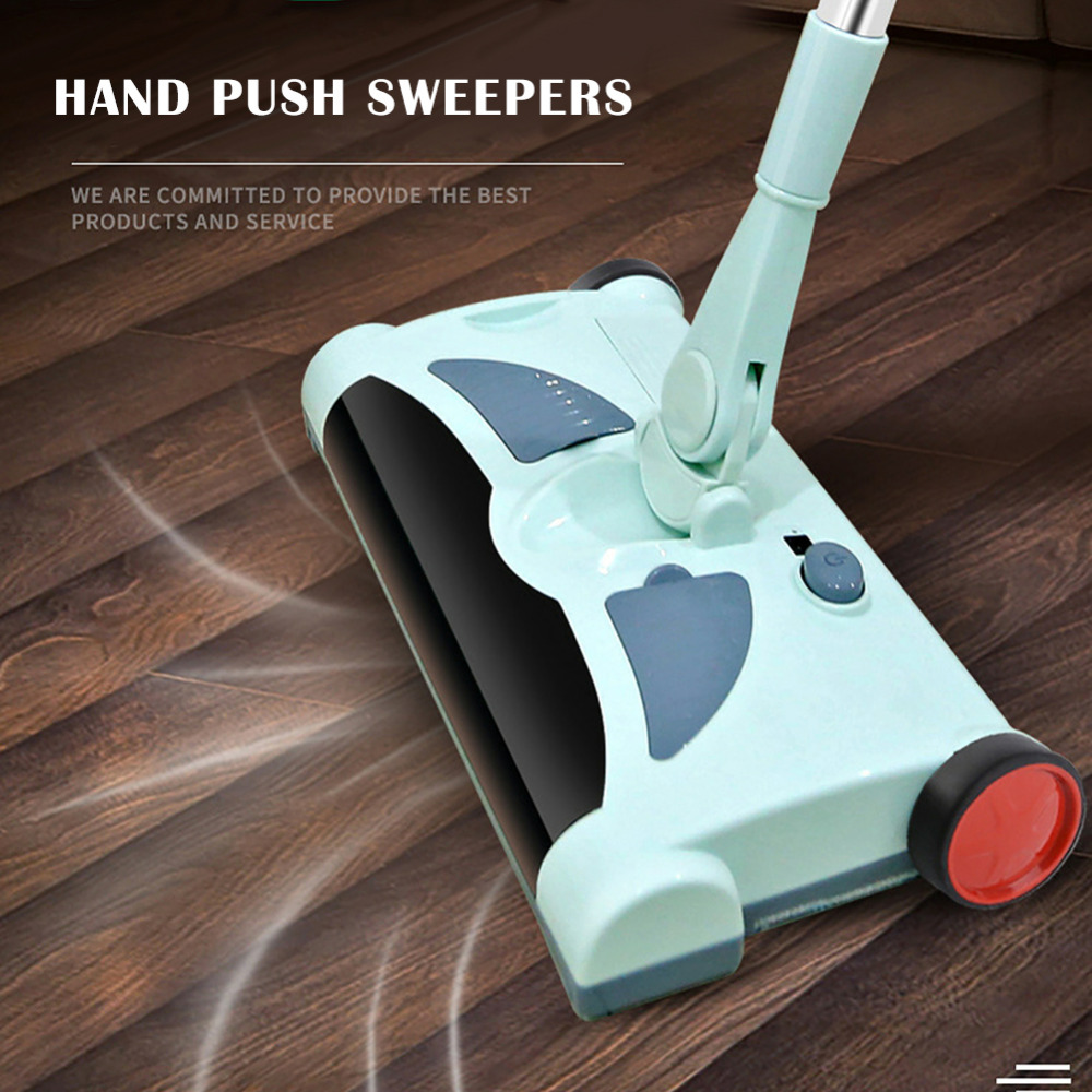 2 in 1 Cordless Hand Push Sweepers Wireless Electric Floor Mop Magic Broom Dustpan Sweeping Mopping Machine Home Cleaner floor