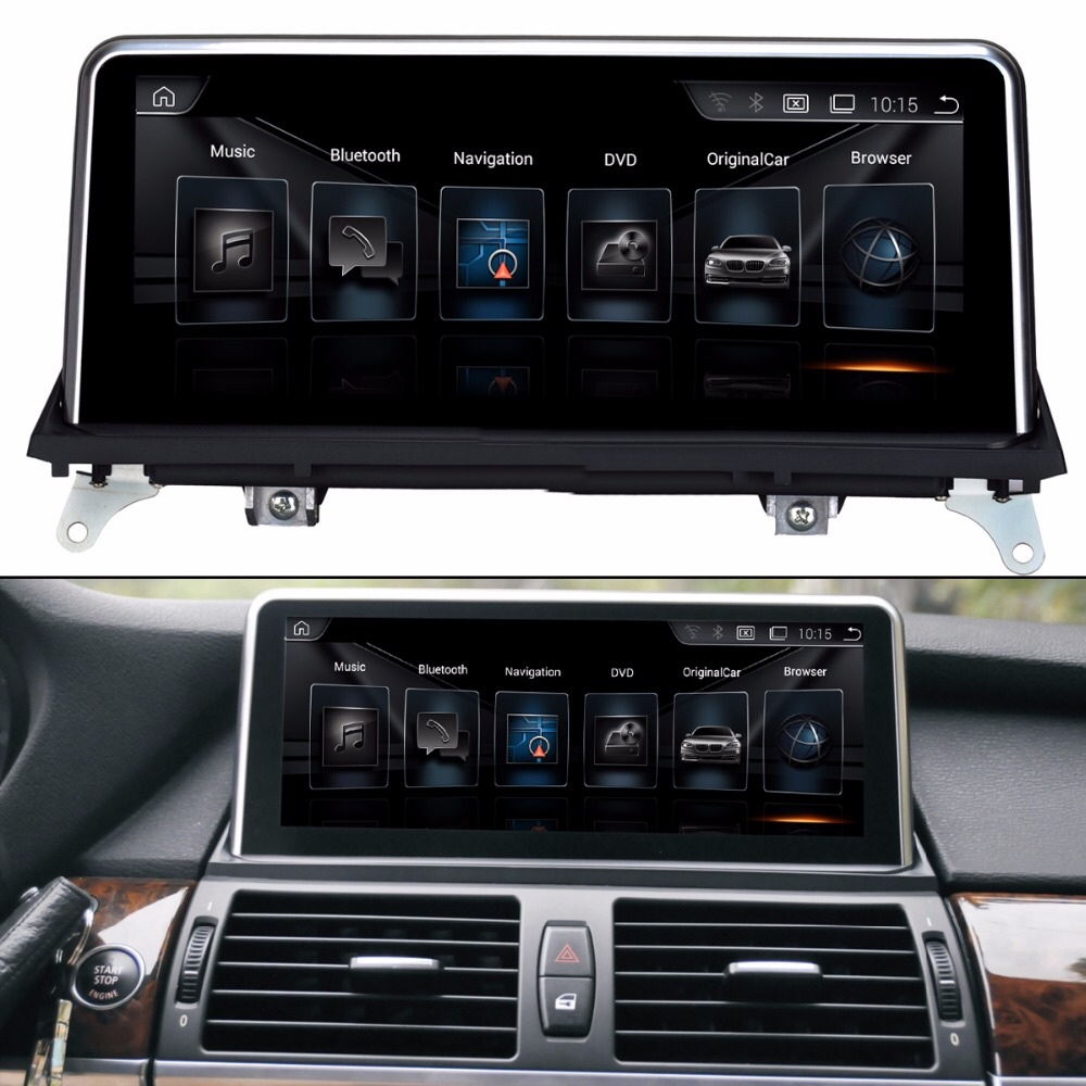 10.25 all in one touch Android Car Raido GPS for BMW X5 E70 (2007 2013)/BMW X6 E71(2007 2014) CIC and CCC Car Multimedia Player