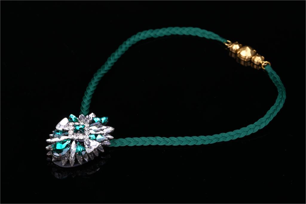 2018 New Luxury Beautiful Blue Noble  Muiti-Layer Shourouk Collar Necklace 901