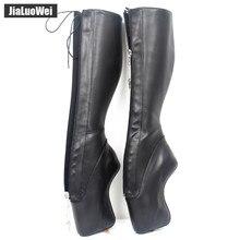 Botas de salto super alto unissex, botas de salto super alto com capuz, stiletto, punk, goth ykk, com zíper bloqueado, sensual botas, botas