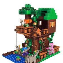 406 шт Дерево дом Compatibie Legoings Строительные блоки Набор игрушек DIY Обучающие Детские подарки на Рождество и день рождения