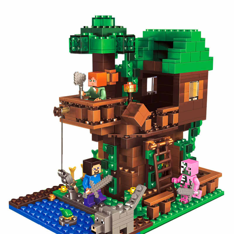 406pcs Tree House Compatibie Legoings Building Blocks Toy Kit DIY Educational Children Christmas Birthday Gifts