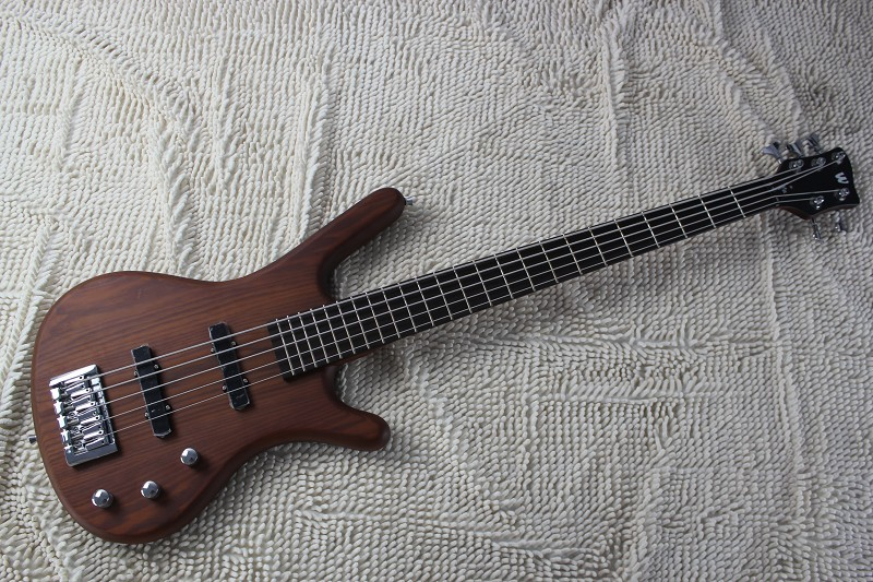 Factory wholesale Top quality W Corvette Standard 5 String Bass Guitar in brown 8 10