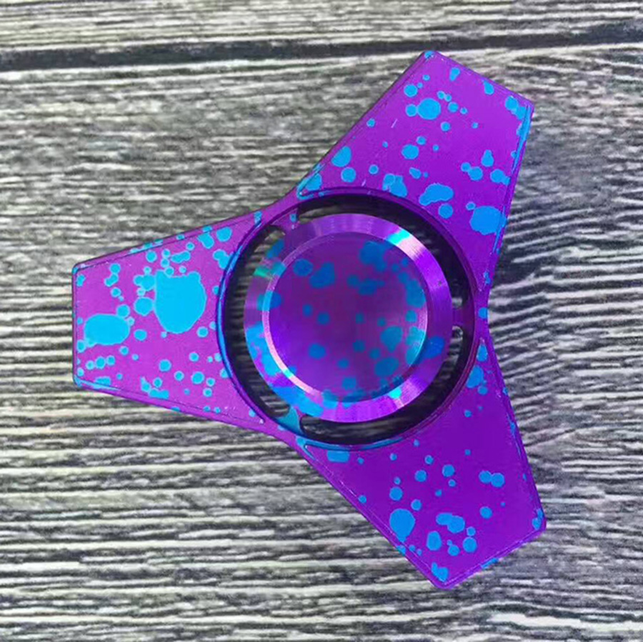 New fidget spinner metal anti stress Finger Spinner Aluminum alloy Relieve Stress hand Spinner