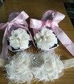Девочка младенческой тиара младенцы обувной первые ходоки ; девочки крещения обувной ; малышей обувь с жемчуг загрузки ободки комплект
