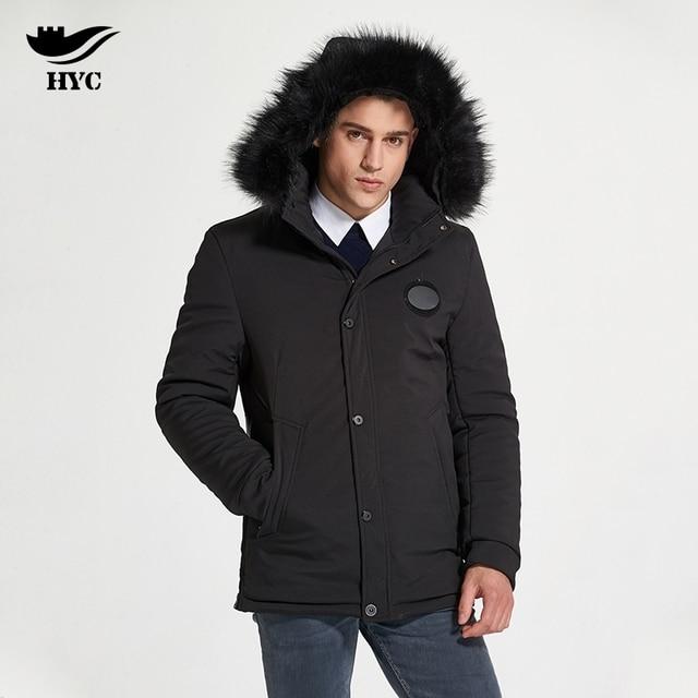 HAI YU CHENG Winter Parka Men Puffer Jacket Coat Male Thick Trench Luxury Brand Men Windbreaker Snow Wear Parka Jacket L-188-07