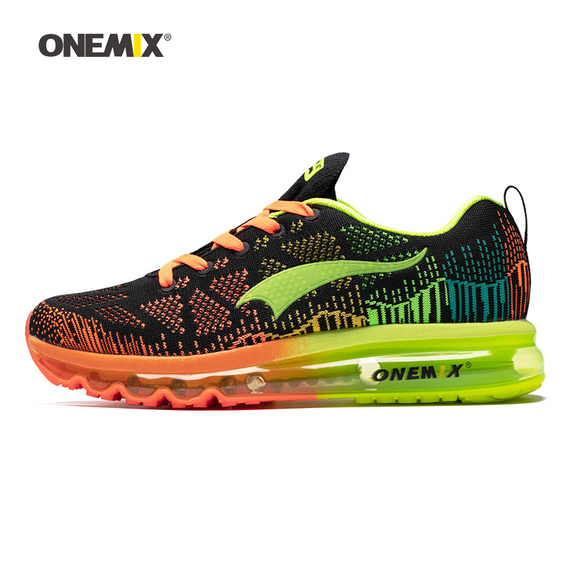 ONEMIX Men Running Shoes For Women Air Mesh Knit Cushion Trainers Tennis Sports Sneakers Outdoor Travel Walking Jogging Footwear