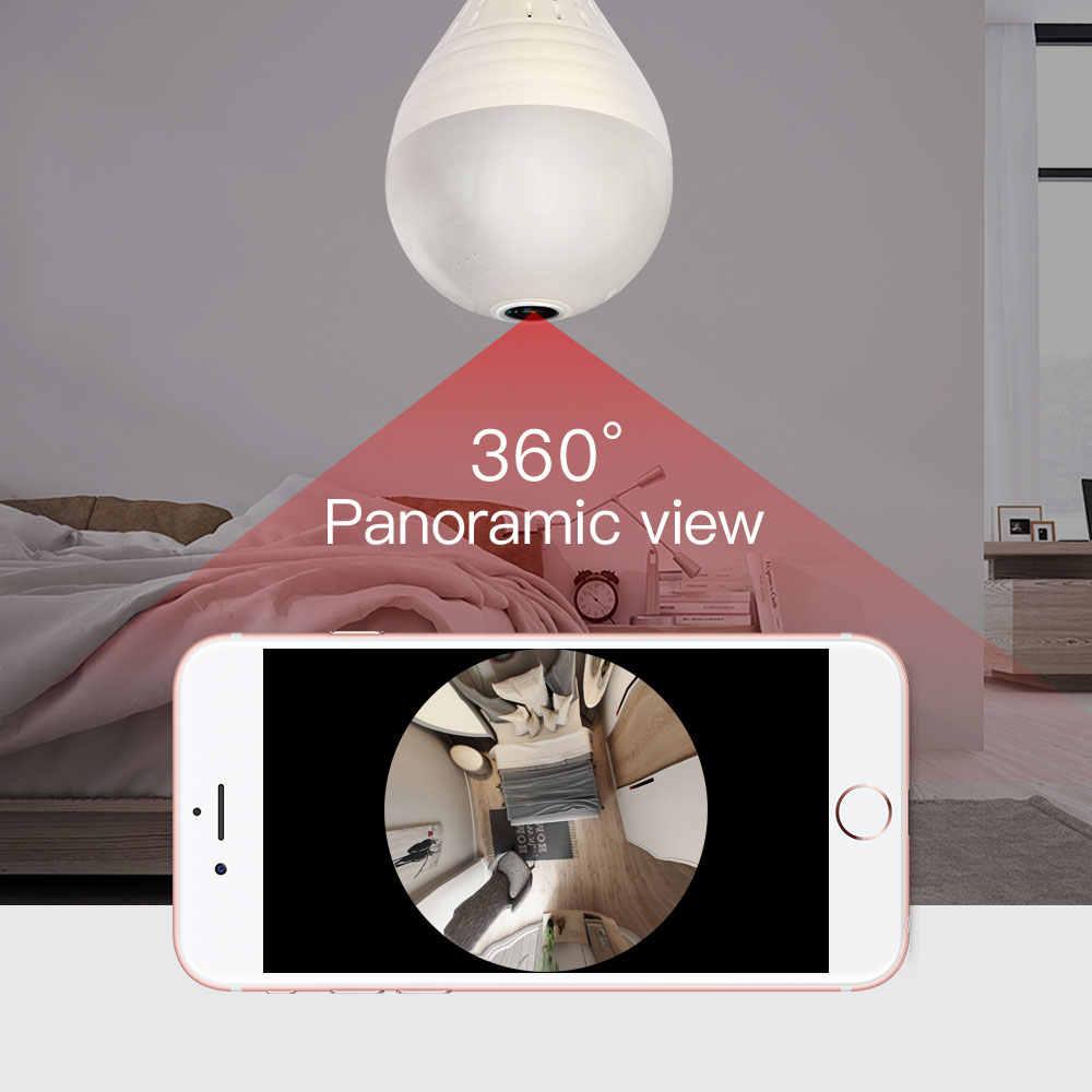SDETER 960 1080 P 360 градусов Беспроводной IP Камера лампа FishEye панорамный дом CCTV Камера 1.3MP безопасности P2P wi-Fi Камера