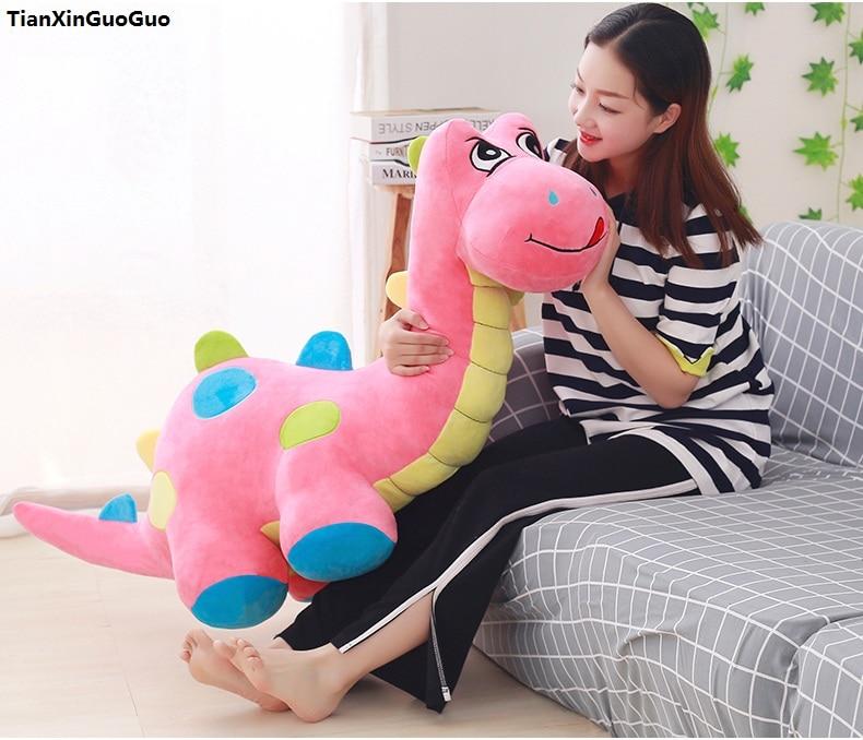 stuffed-toy-huge-125cm-cartoon-dinosaur-plush-toy-q-edition-pink-dinosaur-soft-doll-hugging-pillow-birthday-gift-s1032