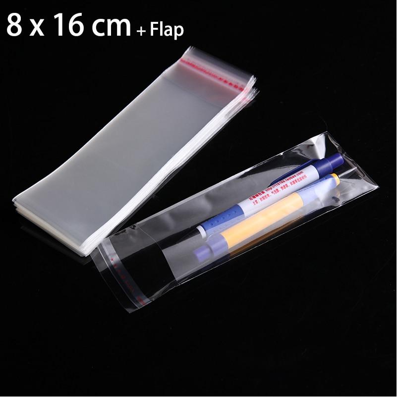 "100tk / tosin 8cm x 16cm läbipaistev kilekott 3.15 ""x 6.3"" kingipakid kottide ehteks"