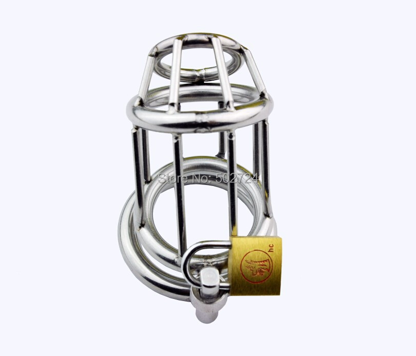 Adult Games Sex Toy Penis Ring Cage Male Chastity Device Cock Cage