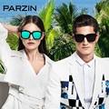 Parzin Polarized Sunglasses Women Men Vintage  Male Oversized Sun Glasses Ladies Shades Driving Glasses Black With Case 9650