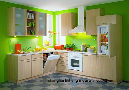 melamine mfc kitchen cabinets LH ME009 in Kitchen Cabinets from Home Improvement