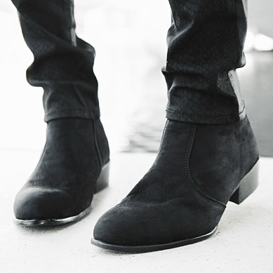 82066c4d0f4c7 Men's British High Top Casual Ankle Boots Cuban Heel Zip Chelsea Pointed  Toe Boots Shoes Black Brown-in Chelsea Boots from Shoes on Aliexpress.com |  Alibaba ...