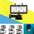 Gopro submarino 30 m buceo llevó la luz de la noche de flash de relleno para xiaomi yi sj4000 gopro hero 4 3 + 3 session