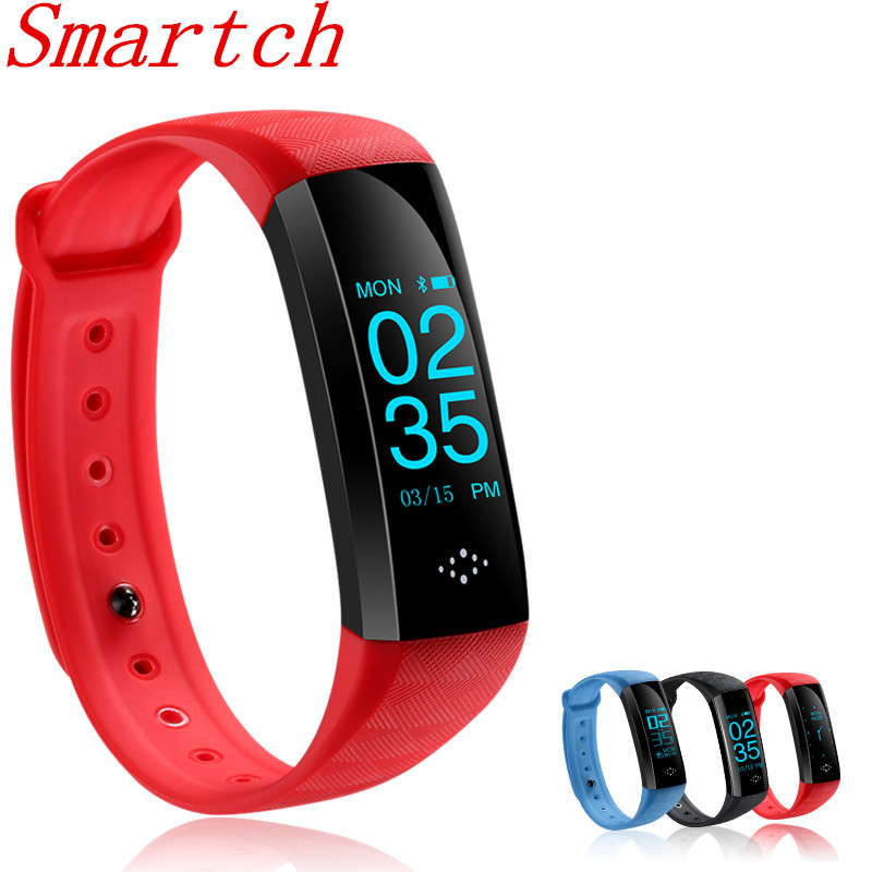 Smartch IP67 Waterproof Sport Fitness Tracker M2S HR and BP Smart Bracelet Oxygen Bluetooth Smartband for